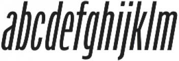Verbatim Lite Condensed Oblique otf (400) Font LOWERCASE