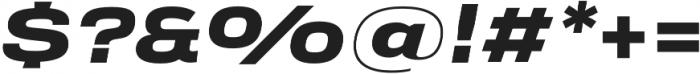 Verbatim Lite Extended Black Oblique otf (900) Font OTHER CHARS