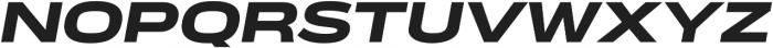 Verbatim Lite Extended Black Oblique otf (900) Font UPPERCASE