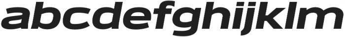 Verbatim Lite Extended Black Oblique otf (900) Font LOWERCASE