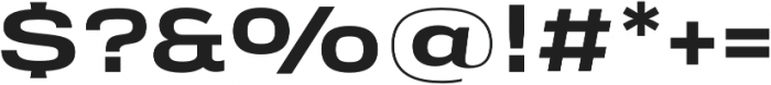 Verbatim Lite Extended Bold otf (700) Font OTHER CHARS