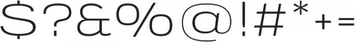 Verbatim Lite Extended Light otf (300) Font OTHER CHARS