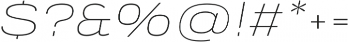 Verbatim Lite Extended Thin Oblique otf (100) Font OTHER CHARS