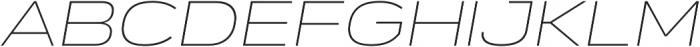 Verbatim Lite Extended Thin Oblique otf (100) Font UPPERCASE