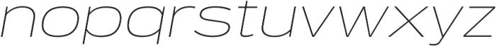 Verbatim Lite Extended Thin Oblique otf (100) Font LOWERCASE