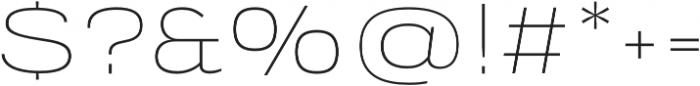 Verbatim Lite Extended Thin otf (100) Font OTHER CHARS