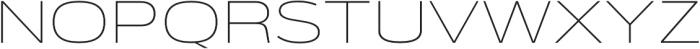 Verbatim Lite Extended Thin otf (100) Font UPPERCASE