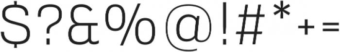 Verbatim Lite Light otf (300) Font OTHER CHARS