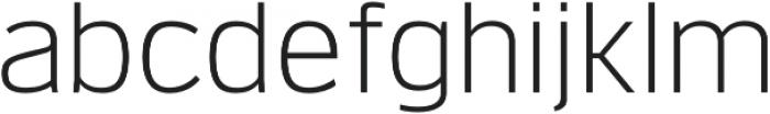 Verbatim Lite Light otf (300) Font LOWERCASE