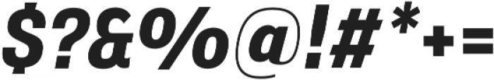 Verbatim Lite Narrow Bold Oblique otf (700) Font OTHER CHARS