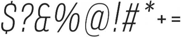Verbatim Lite Narrow Light Oblique otf (300) Font OTHER CHARS