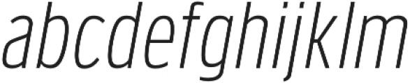 Verbatim Lite Narrow Light Oblique otf (300) Font LOWERCASE