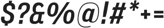 Verbatim Lite Narrow Medium Oblique otf (500) Font OTHER CHARS
