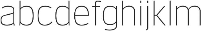 Verbatim Lite Thin otf (100) Font LOWERCASE