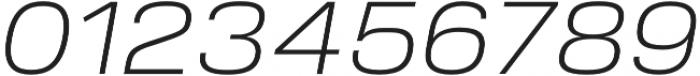 Verbatim Lite Wide Light Oblique otf (300) Font OTHER CHARS