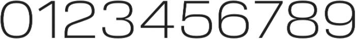 Verbatim Lite Wide Light otf (300) Font OTHER CHARS