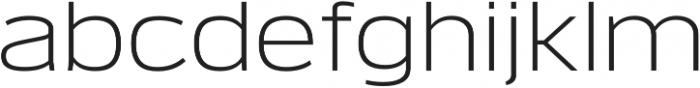 Verbatim Lite Wide Light otf (300) Font LOWERCASE
