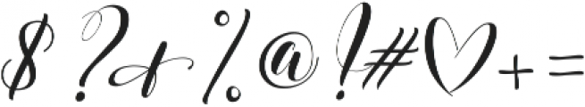 Verbatim by Kestrel Montes otf (400) Font OTHER CHARS