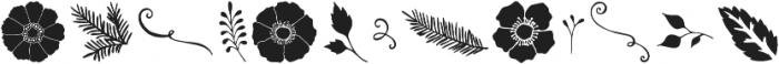 Veronia Elements otf (400) Font UPPERCASE