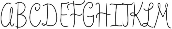 Veronia Regular otf (400) Font UPPERCASE