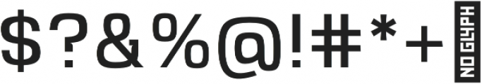 VersaBlock Book otf (400) Font OTHER CHARS
