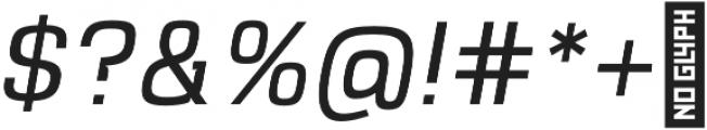 VersaBlock Light Oblique otf (300) Font OTHER CHARS