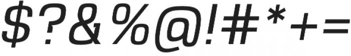 VersaBlock Pro Light Oblique otf (300) Font OTHER CHARS