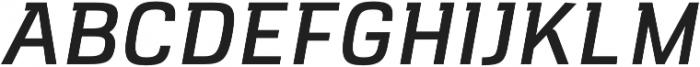 VersaBlock Pro Regular Oblique otf (400) Font UPPERCASE