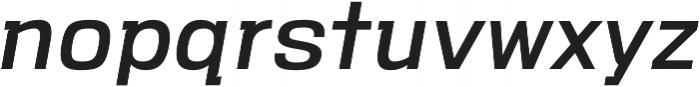VersaBlock Pro Regular Oblique otf (400) Font LOWERCASE
