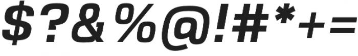 VersaBlock Pro Semibold Oblique otf (600) Font OTHER CHARS