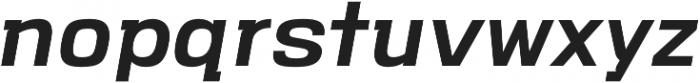 VersaBlock Pro Semibold Oblique otf (600) Font LOWERCASE
