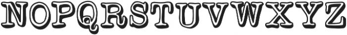 Versaint Outline . otf (400) Font UPPERCASE