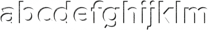 Versatile Inside Shadow Hatch otf (400) Font LOWERCASE