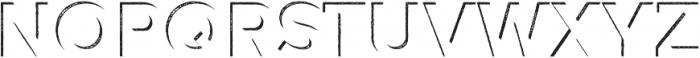 Versatile Inside Shadow Rust otf (400) Font UPPERCASE