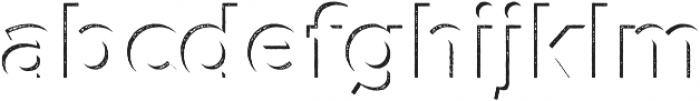 Versatile Inside Shadow Rust otf (400) Font LOWERCASE