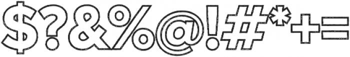Versatile Outline Rust otf (400) Font OTHER CHARS
