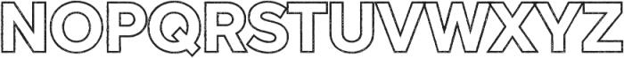 Versatile Outline Rust otf (400) Font UPPERCASE