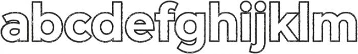 Versatile Outline Rust otf (400) Font LOWERCASE