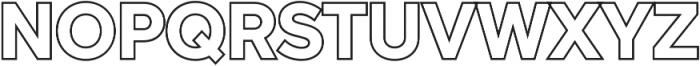 Versatile Outline otf (400) Font UPPERCASE