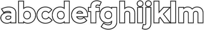 Versatile Outline otf (400) Font LOWERCASE