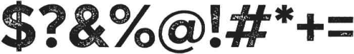Versatile Rust otf (700) Font OTHER CHARS