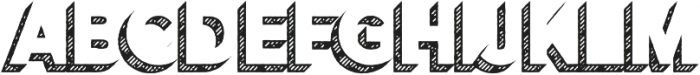 Versatile Shadow Hatch otf (400) Font UPPERCASE