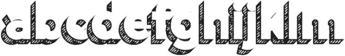 Versatile Shadow Hatch otf (400) Font LOWERCASE