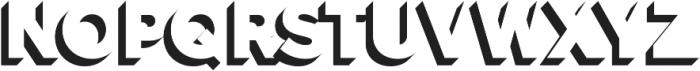 Versatile Shadow otf (400) Font UPPERCASE