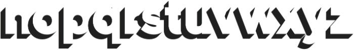 Versatile Shadow otf (400) Font LOWERCASE