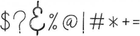 Vertical Brushy otf (400) Font OTHER CHARS