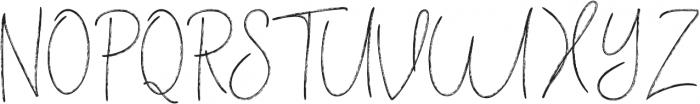 Vertical Brushy otf (400) Font UPPERCASE