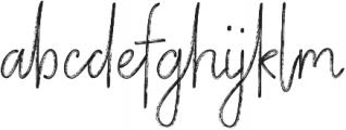 Vertical Brushy otf (400) Font LOWERCASE