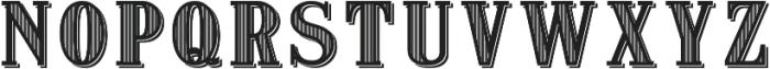 VerticallyStriped otf (400) Font UPPERCASE