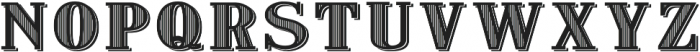 VerticallyStriped otf (400) Font LOWERCASE